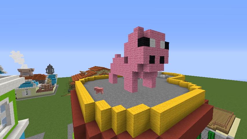 Minecrafterししゃもがマインクラフトでぷっこ村にポークレストランを作る10