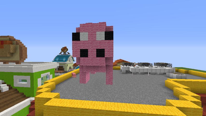 Minecrafterししゃもがマインクラフトでぷっこ村にポークレストランを作る9