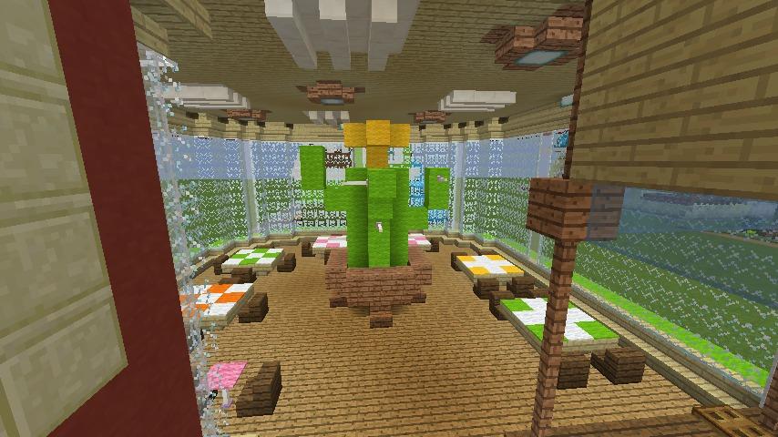 Minecrafterししゃもがマインクラフトでぷっこ村にポークレストランを作る14