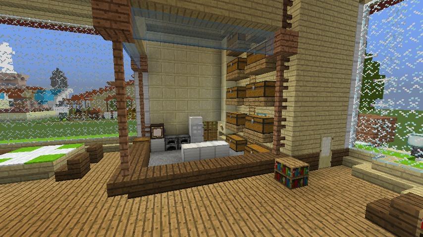 Minecrafterししゃもがマインクラフトでぷっこ村にポークレストランを作る13