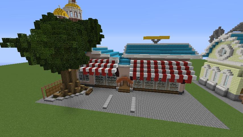 Minecrafterししゃもがマインクラフトでぷっこ村にポークフランクの直売所を作ってみる2