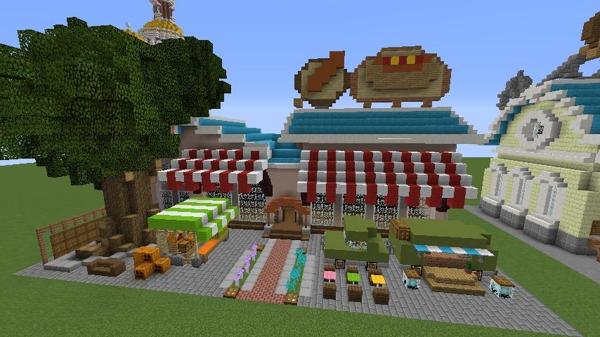 Minecrafterししゃもがマインクラフトでぷっこ村にポークフランクの直売所を作ってみる4