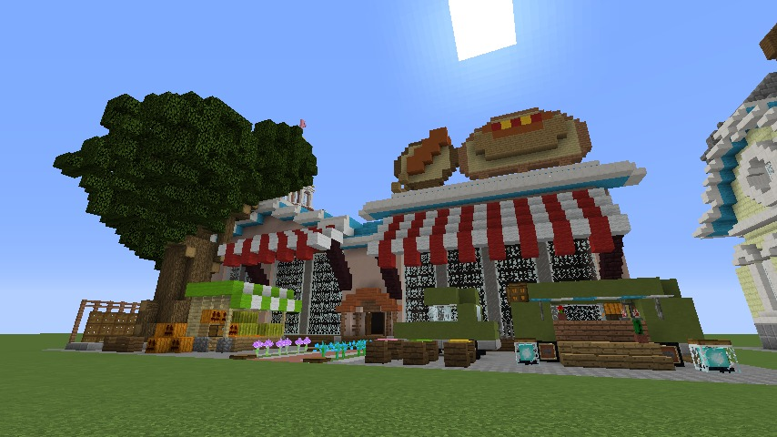 Minecrafterししゃもがマインクラフトでぷっこ村にポークフランクの直売所を作ってみる5