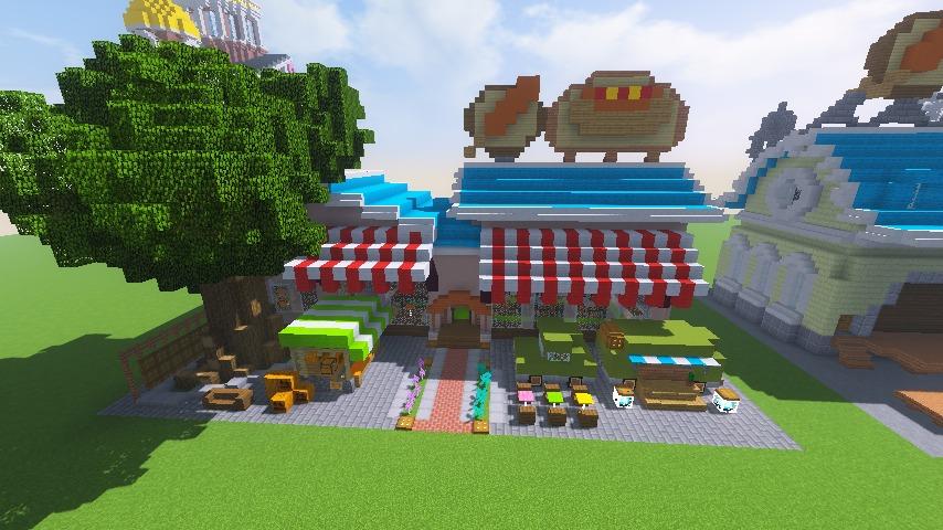 Minecrafterししゃもがマインクラフトでぷっこ村にポークフランクの直売所を作ってみる7