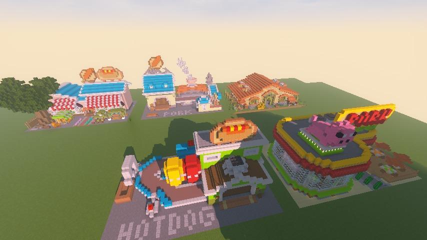 Minecrafterししゃもがマインクラフトでぷっこ村にポークフランクの直売所を作ってみる9
