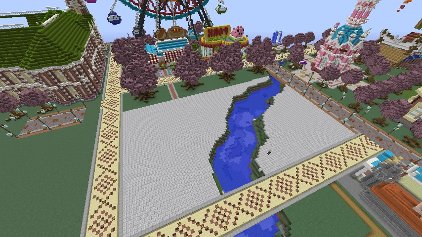 Minecrafterししゃもがマインクラフトでぷっこ村に豚をフィーチャーした公園を建築する1