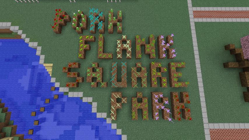 Minecrafterししゃもがマインクラフトでぷっこ村に豚をフィーチャーした公園を建築する4