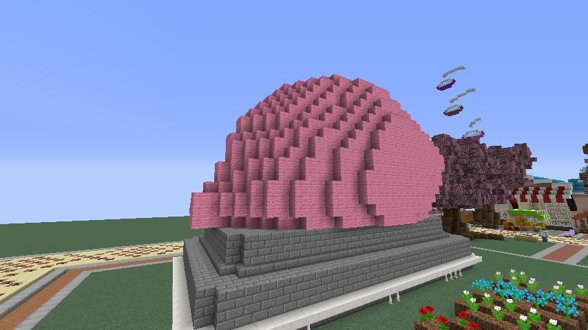 Minecrafterししゃもがマインクラフトでぷっこ村に豚をフィーチャーした公園を建築する7