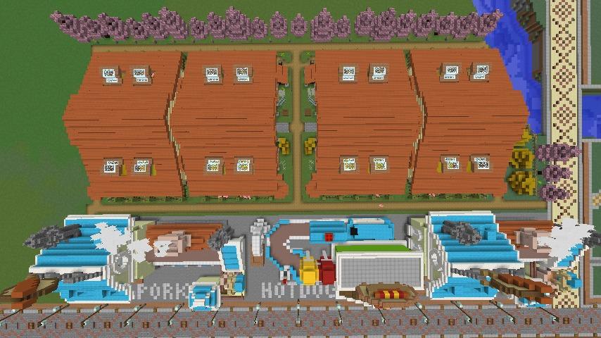 Minecrafterししゃもがマインクラフトでぷっこ村にポークフランク工場とかを建築する4