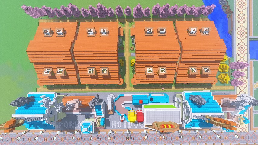 Minecrafterししゃもがマインクラフトでぷっこ村にポークフランク工場とかを建築する6