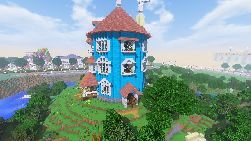ムーミンの家を建築してみる14