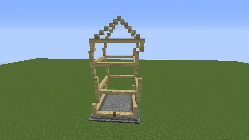 Minecrafterししゃもがマインクラフトでぷっこ村にフィリフヨンカの家を建築する3