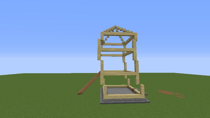Minecrafterししゃもがマインクラフトでぷっこ村にフィリフヨンカの家を建築する4