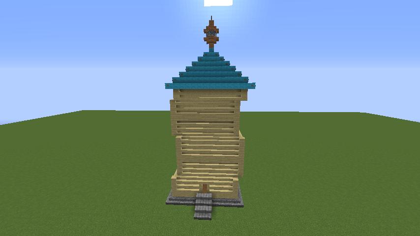 Minecrafterししゃもがマインクラフトでぷっこ村にフィリフヨンカの家を建築する5
