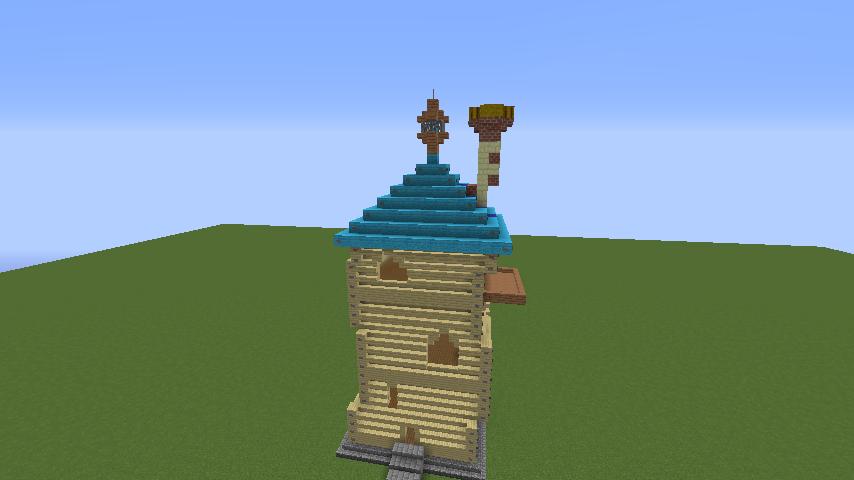 Minecrafterししゃもがマインクラフトでぷっこ村にフィリフヨンカの家を建築する6
