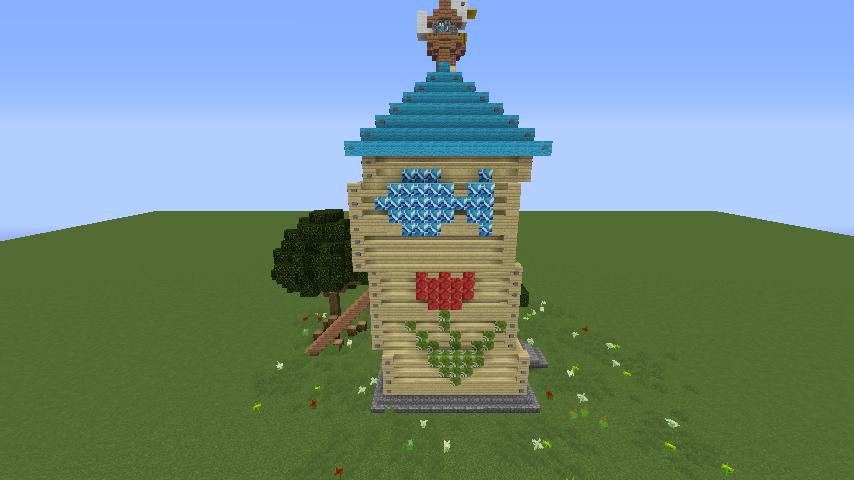 Minecrafterししゃもがマインクラフトでぷっこ村にフィリフヨンカの家を建築する10