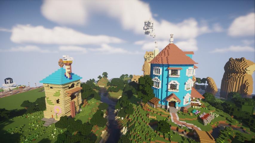 Minecrafterししゃもがマインクラフトでぷっこ村にフィリフヨンカの家を建築する12