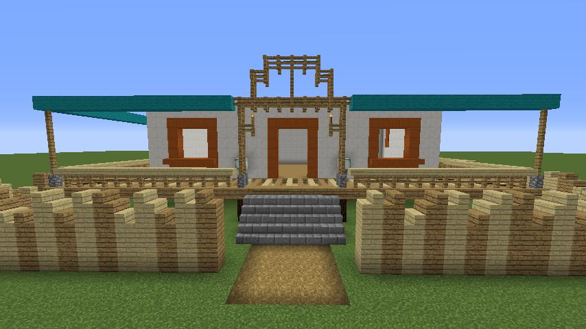 Minecrafterししゃもがマインクラフトでぷっこ村にフィリフヨンカの家を建築する7