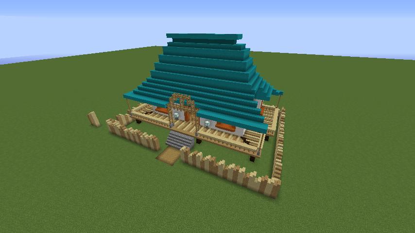 Minecrafterししゃもがマインクラフトでぷっこ村にフィリフヨンカの家を建築する8
