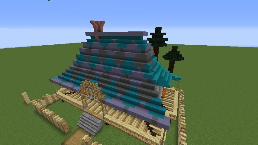 Minecrafterししゃもがマインクラフトでぷっこ村にフィリフヨンカの家を建築する9