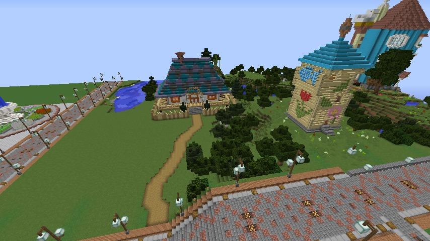 Minecrafterししゃもがマインクラフトでぷっこ村にフィリフヨンカの家を建築する11