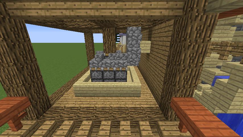 Minecrafterししゃもがマインクラフトでぷっこ村にムーミン谷にありそうな水車小屋を建築する5