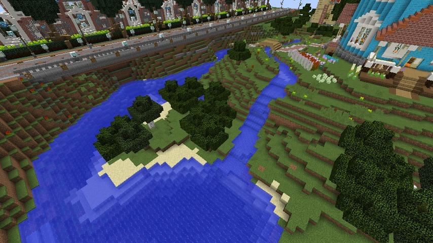 Minecrafterししゃもがマインクラフトでぷっこ村にムーミン谷にありそうな水車小屋を建築する8