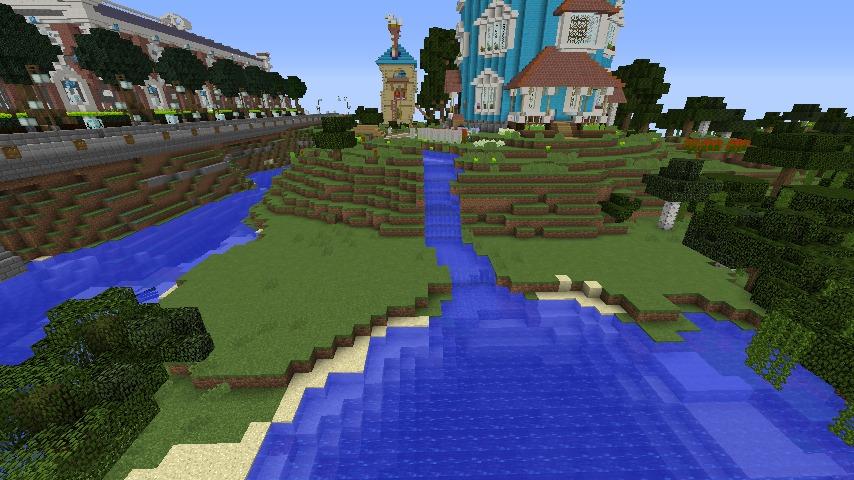 Minecrafterししゃもがマインクラフトでぷっこ村にムーミン谷にありそうな水車小屋を建築する9