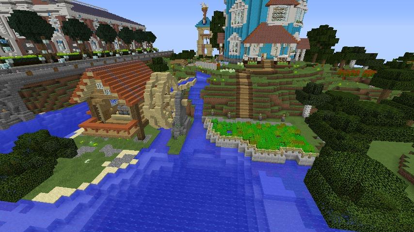 Minecrafterししゃもがマインクラフトでぷっこ村にムーミン谷にありそうな水車小屋を建築する10