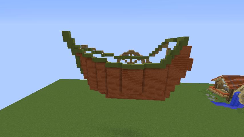 Minecrafterししゃもがマインクラフトでぷっこ村に海のオーケストラ号を建築するよ2