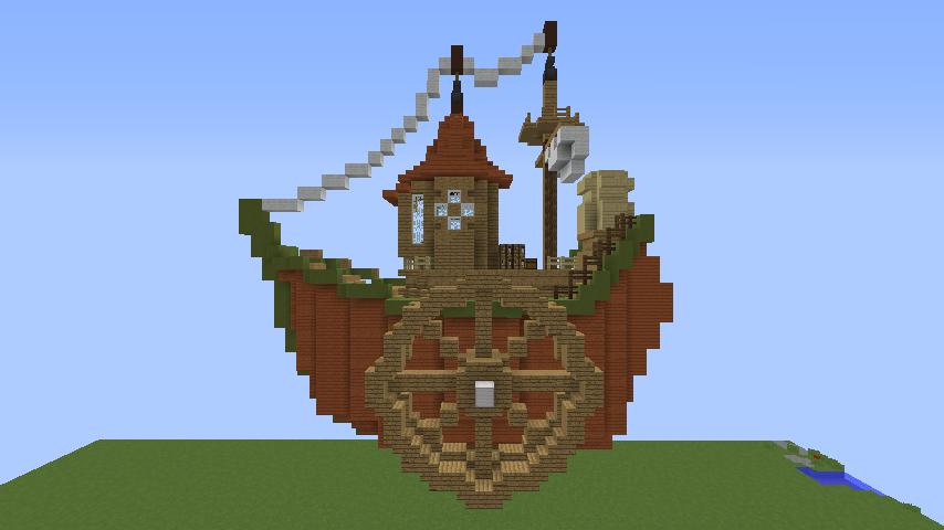 Minecrafterししゃもがマインクラフトでぷっこ村に海のオーケストラ号を建築するよ4