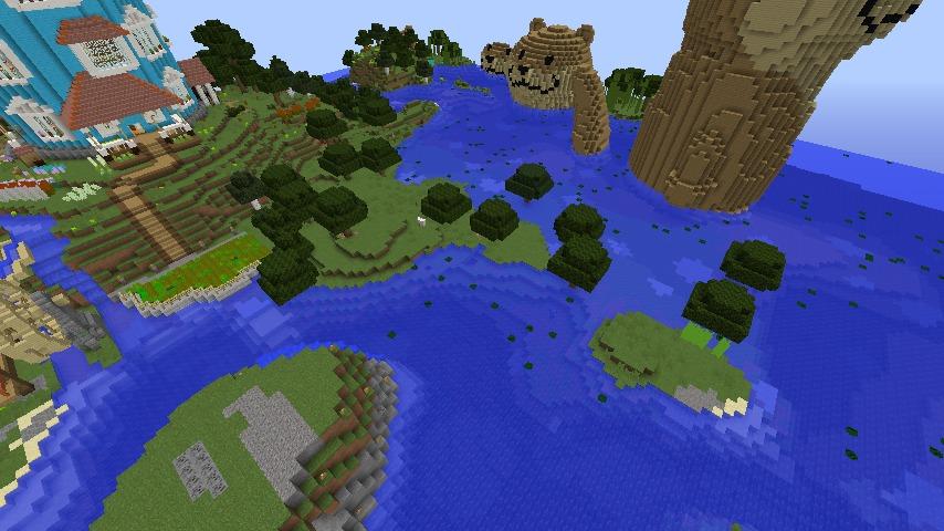 Minecrafterししゃもがマインクラフトでぷっこ村に海のオーケストラ号を建築するよ8