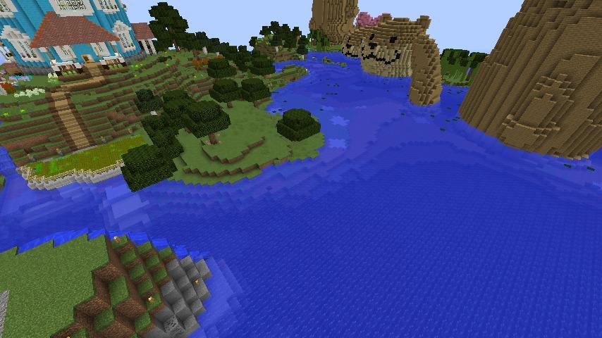 Minecrafterししゃもがマインクラフトでぷっこ村に海のオーケストラ号を建築するよ9