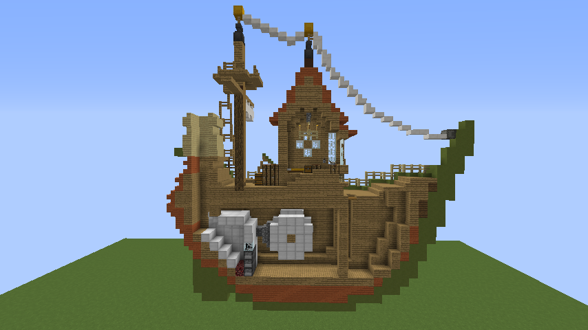 Minecrafterししゃもがマインクラフトでぷっこ村に海のオーケストラ号を建築するよ6