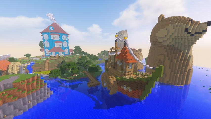 Minecrafterししゃもがマインクラフトでぷっこ村に海のオーケストラ号を建築するよ11