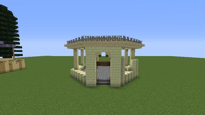 Minecrafterししゃもがマインクラフトでぷっこ村にソーダ―シャール灯台を建築してみる2