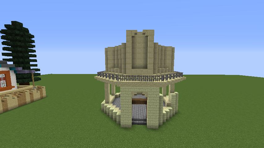 Minecrafterししゃもがマインクラフトでぷっこ村にソーダ―シャール灯台を建築してみる3