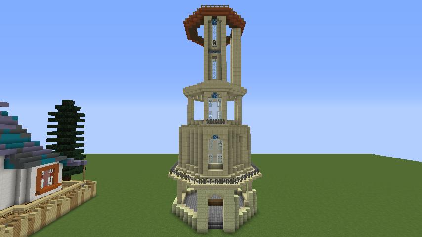 Minecrafterししゃもがマインクラフトでぷっこ村にソーダ―シャール灯台を建築してみる5