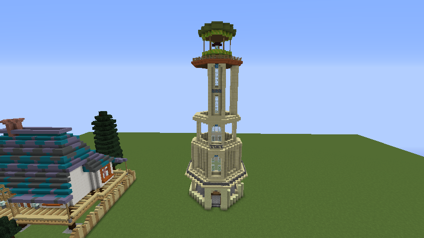 Minecrafterししゃもがマインクラフトでぷっこ村にソーダ―シャール灯台を建築してみる7