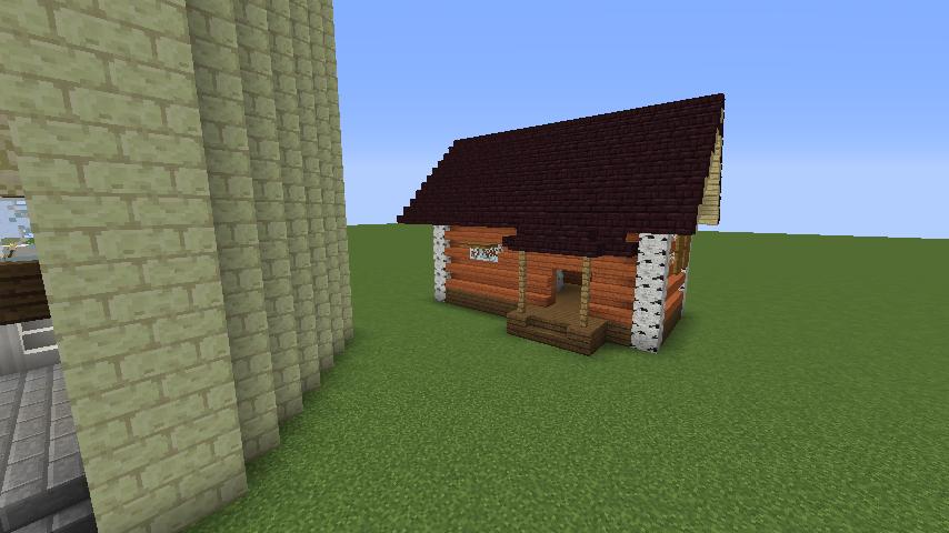 Minecrafterししゃもがマインクラフトでぷっこ村にソーダ―シャール灯台を建築してみる9