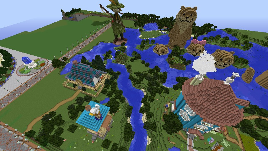 Minecrafterししゃもがマインクラフトでぷっこ村にソーダ―シャール灯台を建築してみる10
