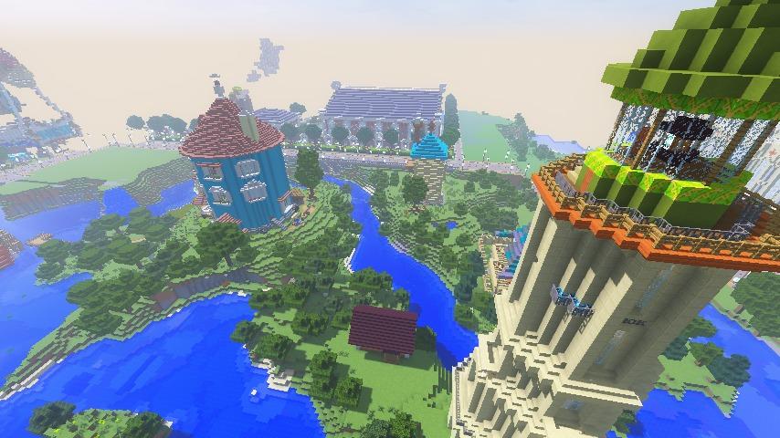 Minecrafterししゃもがマインクラフトでぷっこ村にソーダ―シャール灯台を建築してみる13