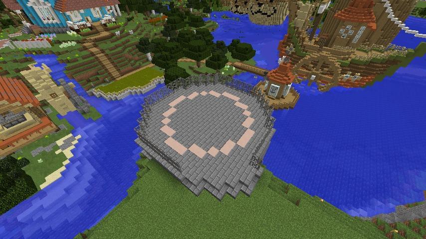 Minecrafterししゃもがマインクラフトでぷっこ村にムーミンパパの灯台を作るよ1