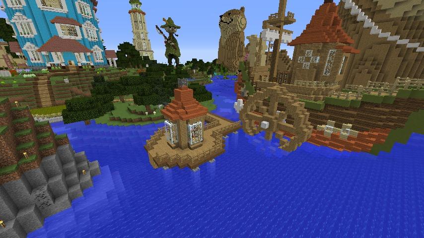 Minecrafterししゃもがマインクラフトでぷっこ村にムーミン家の水浴び小屋を作るよ1