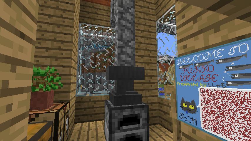 Minecrafterししゃもがマインクラフトでぷっこ村にムーミン家の水浴び小屋を作るよ2