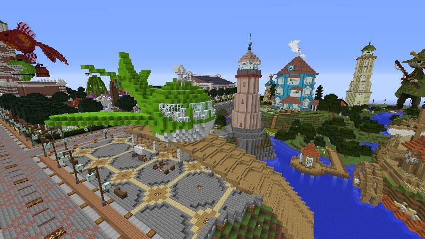 Minecrafterししゃもがマインクラフトでぷっこ村に新・海のオーケストラ号を作る11