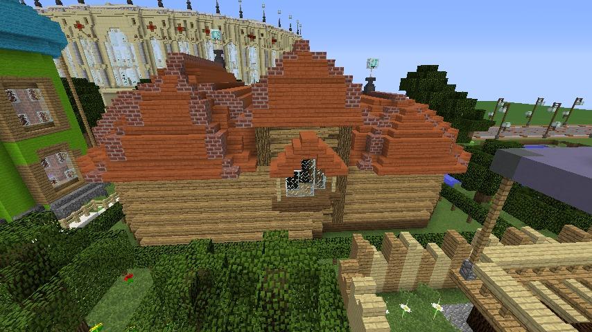 Minecrafterししゃもがマインクラフトでぷっこ村に植物学者のヘムレンさんの家を建築する7