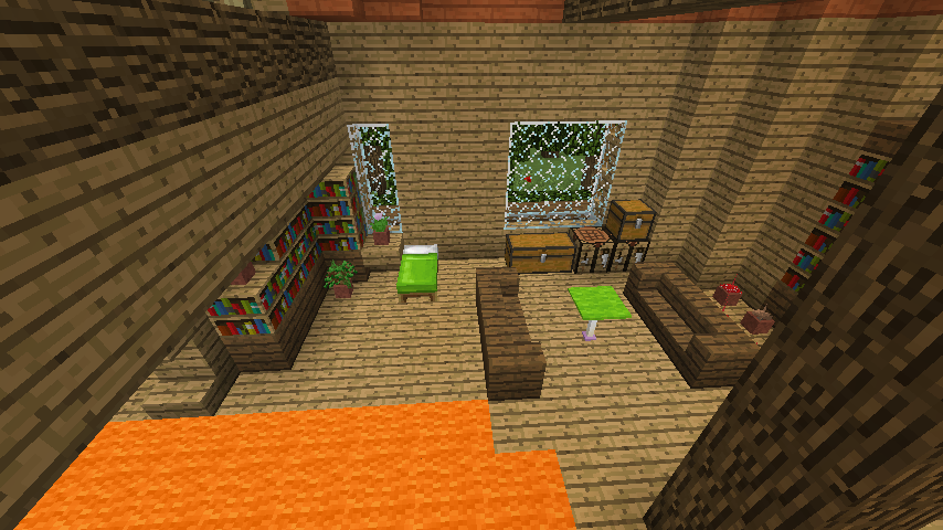 Minecrafterししゃもがマインクラフトでぷっこ村に植物学者のヘムレンさんの家を建築する14