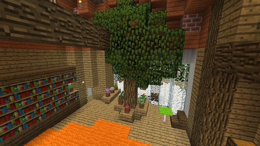 Minecrafterししゃもがマインクラフトでぷっこ村に植物学者のヘムレンさんの家を建築する15