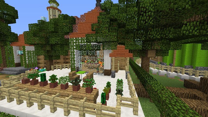 Minecrafterししゃもがマインクラフトでぷっこ村に植物学者のヘムレンさんの家を建築する16